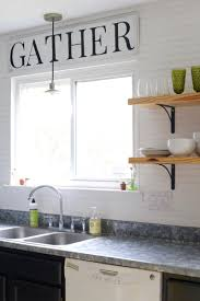 diy fixer upper inspired kitchen sign farmhouse style kitchen