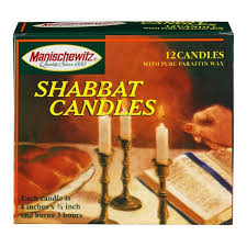shabbat candles manischewitz white paraffin wax shabbat candles from price chopper