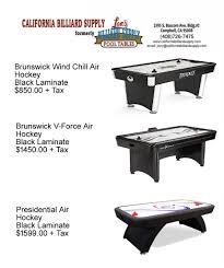 air hockey tables california billiard supply