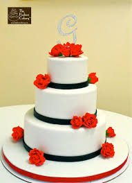 red sugar rose wedding cake weddings the hudson cakery