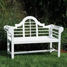 White Patio Furniture Shop Patio Benches At Lowes Com