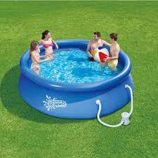 Intex 12x30 Pool Summer Escapes 10 Ft X 30 In Quick Set Ring Pool W Pump Shop