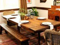 picnic table dining room furniture new rustic picnic style dining