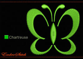 lime butterfly outline embroidery design 1 size u0026 8 formats