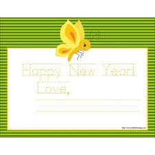 happy new year note cards printable happy new year card with butterfly 11 x 8 5
