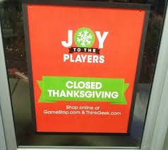 no shopping on thanksgiving vision media