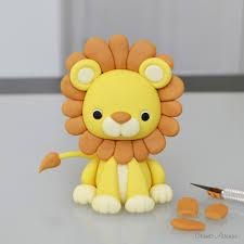 lion cake topper lion tutorial pinteres