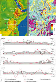 Africa Topographic Map by The Mid Miocene East African Plateau A Pre Rift Topographic Model