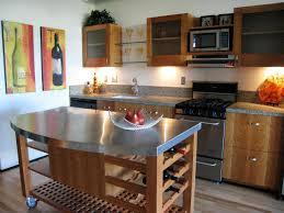 furniture wood kitchen island on wheels with granite countertop