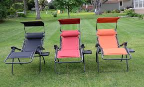Padded Lawn Chairs Amazon Com Deluxe Padded Zero Gravity Chair With Canopy Tray
