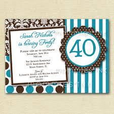 40th birthday invitation ideas alanarasbach