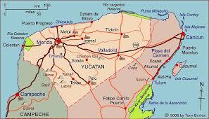 map of mexico yucatan region interactive map of yucatan mexico mexico travel