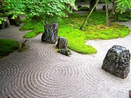 Zen Garden Rocks Design Garden Japan Japanese Gardens Landscapes Moss Sand Zen