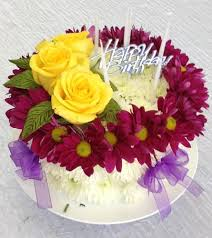 flowers birthday flower birthday cake of daisies and roses in new city ny