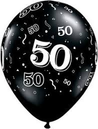 50th birthday balloons 50th birthday balloons biodegradable black and white