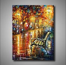 large handpainted abstract modern wall painting tree road palette knife oil painting on canvas wall decor