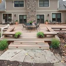 Backyard Deck Pictures by Trex Transcends Decking Steel Framing And Custom Aluminum Railing