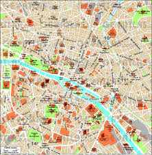 Notre Dame Campus Map Download Map Of Central Paris France Major Tourist Attractions