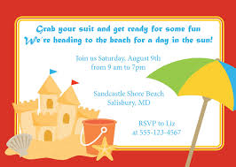Example Of Invitation Card Elegant Beach Party Invitation Card Example Featuring Colorful