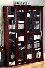 Media Cabinets With Glass Doors Media Cabinet Black Musicalpassion Club