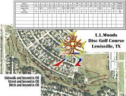 Frisco Texas Map Leonard L Woods Park Professional Disc Golf Association