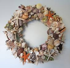beach decor seashell wreath nauti seashell wreath shell