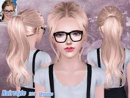 the sims 4 cc hair ponytail ponytail hair 201 for females by skysims sims 3 downloads cc