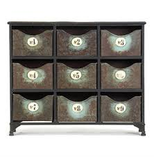 reclaimed industrial iron 9 drawer storage cabinet kathy kuo home