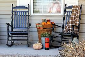 front porch fall decor farmhouse porch decor with color house
