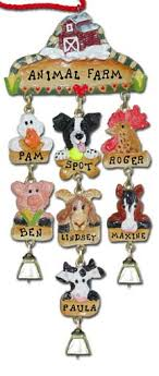 personalized farm animal ornaments