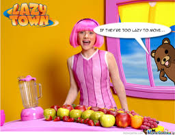 Lazy Town Meme - pedo bear goes to lazy town by recyclebin meme center