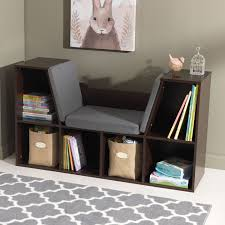 Bookcase Bench Reading Nook Bench Corner Picket Fence Bench Book Nook With Sling