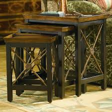 3 piece nesting tables hooker furniture seven seas 3 piece nesting table with medallion