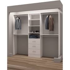 tidysquares classic white wood 87 inch reach in closet organizer