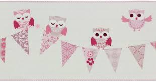 p s kids wallpaper happy kids border 05586 10 558610 owl white pink