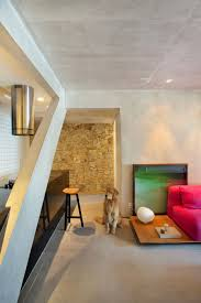 Concrete Interior Design by Chic Décor And Concrete Walls Welcome You At Snazzy Ipanema House
