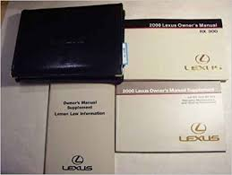 lexus is owners manual 2000 lexus rx 300 owners manual original lexus amazon com books