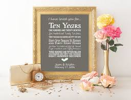 10 year wedding anniversary gift ideas the 25 best 10th anniversary gifts ideas on 10 year