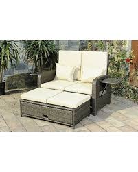 fall sale sunjoy s dnc540pst love seat recliner with ottoman