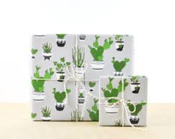 designer wrapping paper cactus gift wrap pink gift wrap paper designer wrapping