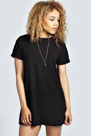 boohoo womens ladies anna turn back t shirt crepe shift dress ebay