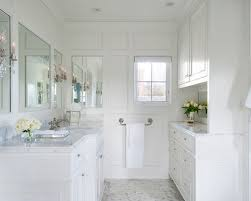 White Master Bathroom Houzz - White cabinets master bathroom