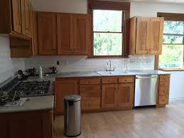 antique tile backsplash unfinished oak antique cabinets vintage white marble counter