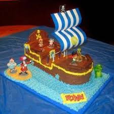 watermelon pirate ship would be cute at a pirate birthday party
