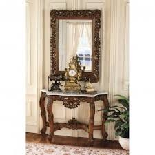Entry Console Table With Mirror Entryway Table And Mirror Sets Foter