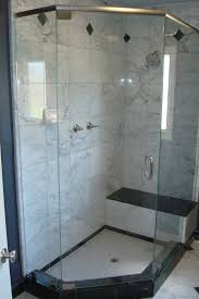 bed u0026 bath marble tile for neo angle shower with glass enclosure