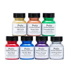 angelus pearlescent leather acrylic paint