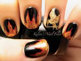 Nail Art Designs Games Best 25 Hunger Games Nails Ideas On Pinterest Fire Nails Nail