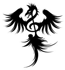 phoenix treble clef tattoo design tattoomagz