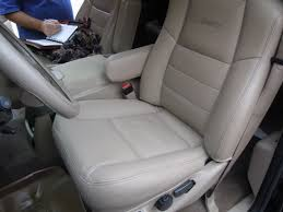 Ford Excursion New 2003 Ford Excursion Replacement Leather Seat Cover Before And